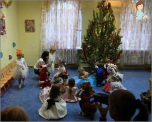 Scenariul petrecerii de Anul Nou pentru copii de 5-6 ani de grup senior grădinița - Pădurea Fermecată pentru Anul Nou