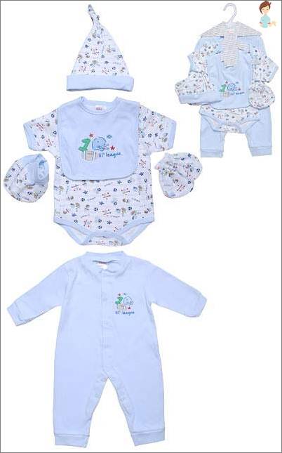The choice of clothes for newborn boy