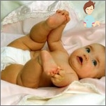 Wie eine Windel auf dem Baby tragen richtig