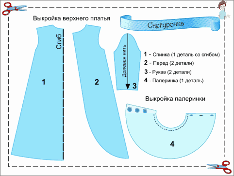 Pattern Suknelės žemesnės kostiumas Snieguolė