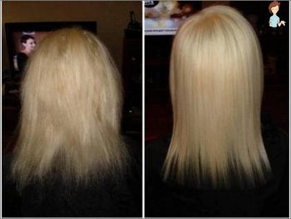 udglatning af hår med keratin