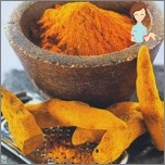 Traditional recipes against hair growth on the body - turmeric