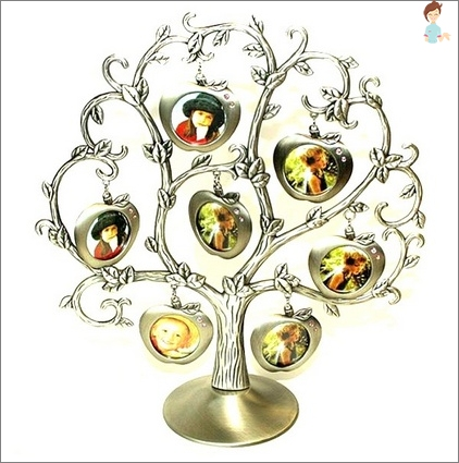 Nuotraukų rėmelis į šeimos medį formos