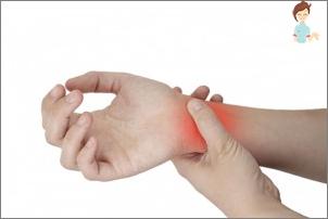 Motivul pentru dureri în încheietura mâinii