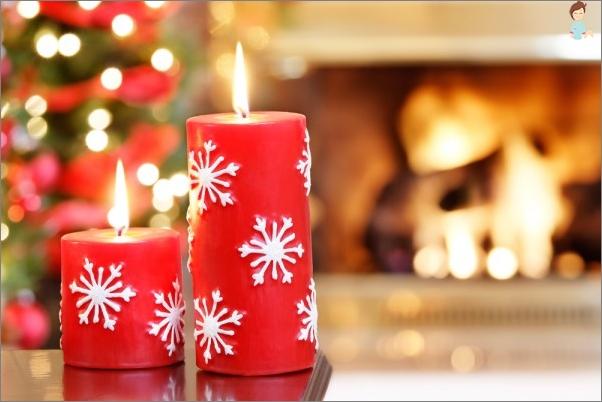 žvakė apdaila 2017 Kalėdų stalo