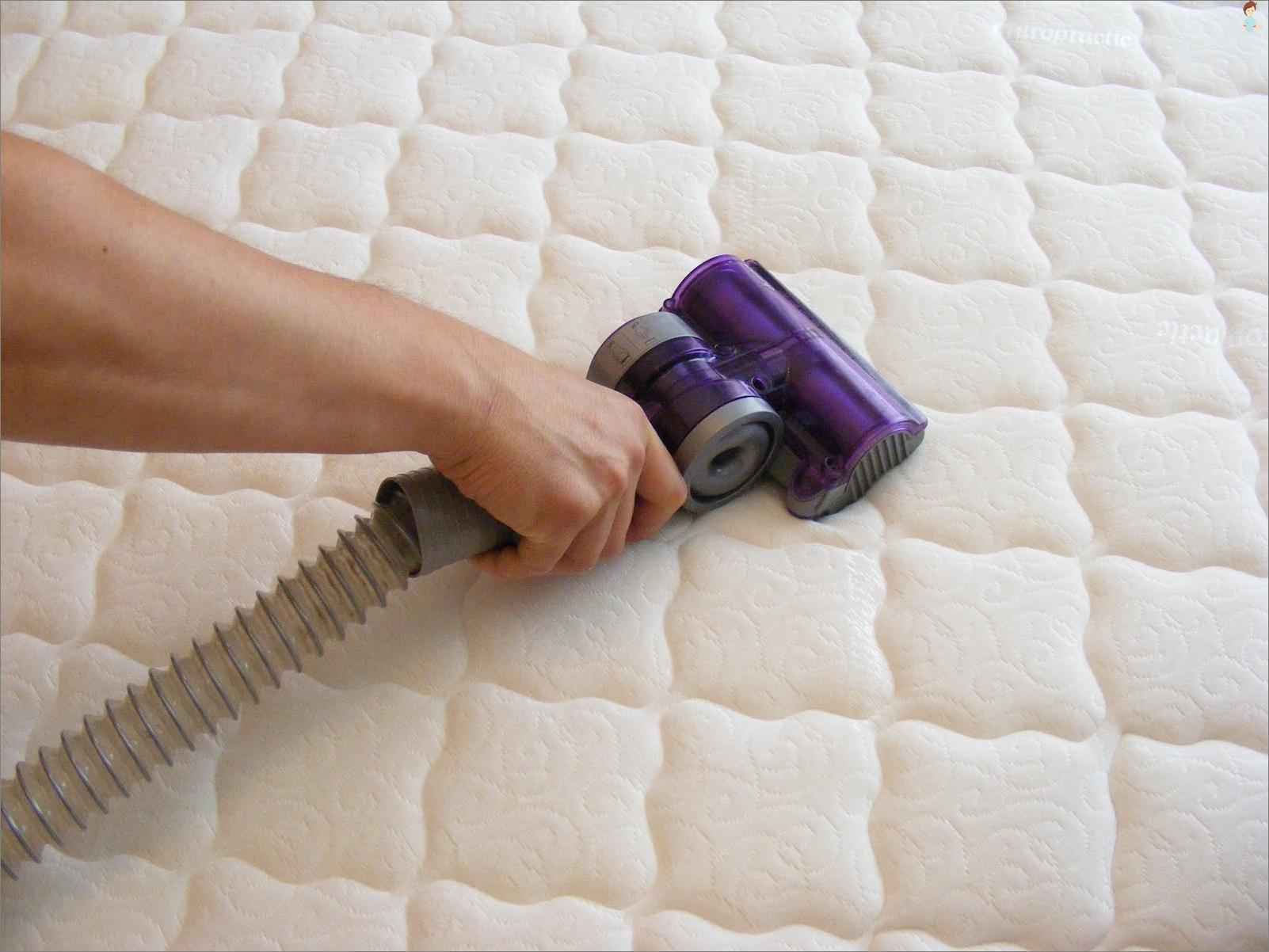 Hvordan vaske madrass oppkast