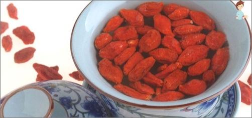 أطباق مع التوت غوجي لفقدان الصحة والوزن
