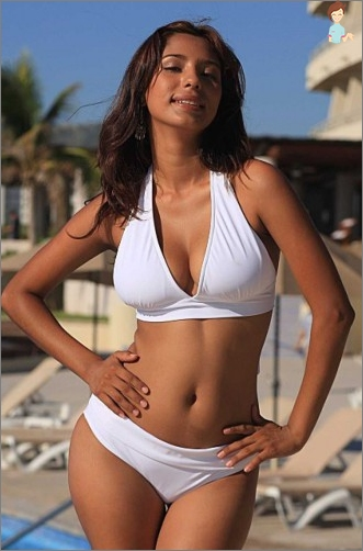 White swimsuit - the embodiment of elegance and style!