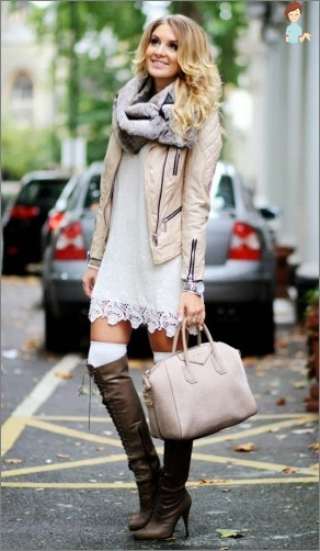High boots are a luxurious attribute of style for all time