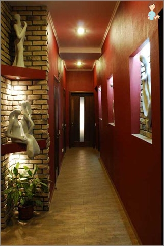 The design of a narrow hall: how to make the right