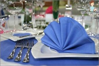 Servetėlės skirtos stalo