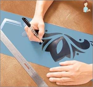 Stencils for decoration: create fabulous interior