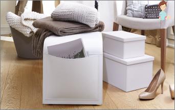 Kasser til opbevaring - det er meget praktisk og funktionel