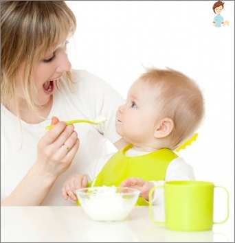 The first solid foods for babies