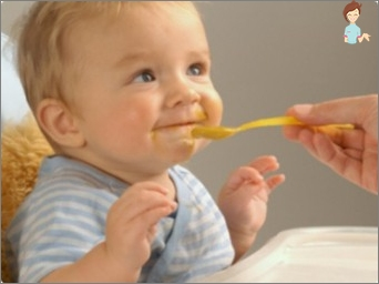 The first solid foods to the baby bottle-fed