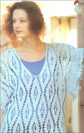 Openwork sophistication: tunic Crochet for summer, to the beach every day
