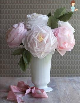 Како направити цвеће од папира ткива: корак по корак упуте