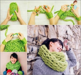 Knitting without hands and crochet: popular Japanese technique