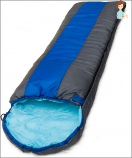 Sleeping bag with his hands: features sewing