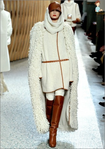 White knitted coat: knit scheme of clothes for girls