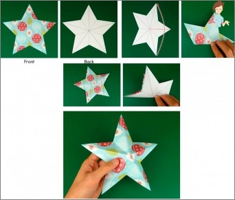 How to make a three-dimensional star from paper?