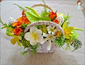 Master basket with flowers for interior decoration