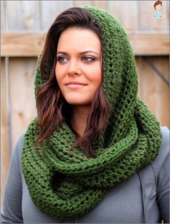 How to tie a scarf-LIC crochet: the scheme and description of knitting LICs