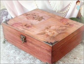 Originelle Ideen für die Dekoration Schachteln mit ihren eigenen Händen