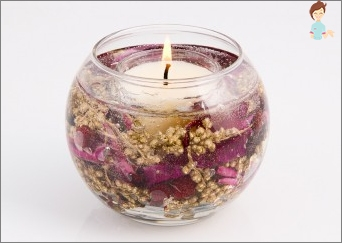 Easy recipe for how to make fragrant gel candles at home