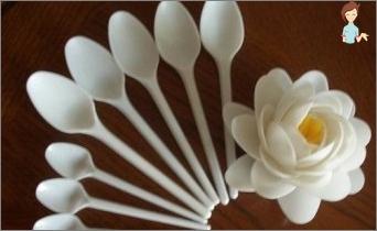 Plastikiniai stebuklas su savo rankomis: Magistras gėlių iš paprastų šaukštai
