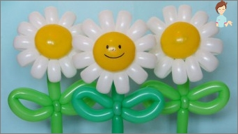 How to make a daisy or a bouquet of tulips of balls for modeling