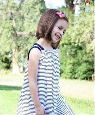 Sew a beautiful dress for a girl