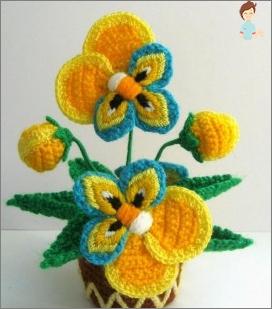الزهور الحياكة الكروشيه