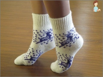 How to darn woolen socks: a lacquer that no one will notice