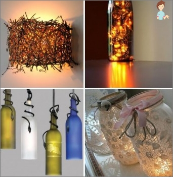 How to make an original lamp from the bottle?
