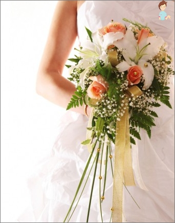 Traditional wedding bouquet in original design