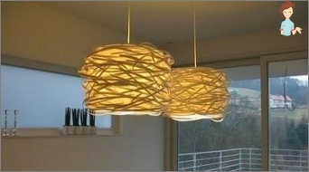 How to make a lampshade with their hands out of scrap materials?
