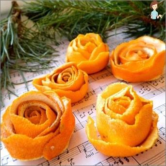 Crafts from orange: we show creativity