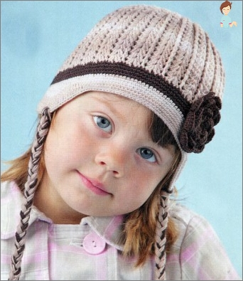 Winter knitted hats for the girls and their parents