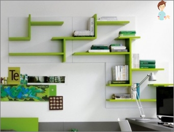 Wall shelves with their own hands
