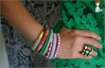 Bracelets with your own hands - a spade of original jewelry
