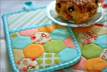 Potholder for kitchen: how to sew her own hands