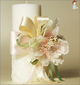 Wedding candles: an obligatory attribute of the wedding ceremony