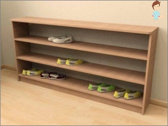Shelf for shoes - do it yourself