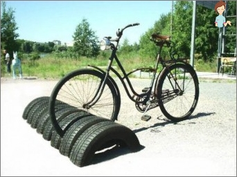 Crafts from the tires: the original for comfort