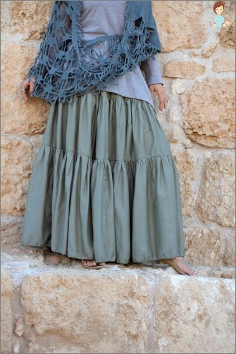 Tiered skirt: fast, fashionable, comfortable