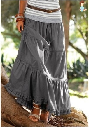 Long skirt: sew their own hands