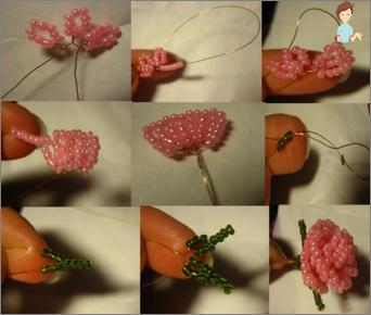 Magistro krepšys su gėlėmis vidaus apdailai
