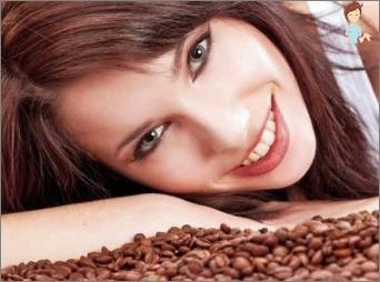Kavos kaukė tamsiais plaukais
