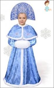 Machen Sie ein neues Kostüm-Schnee-Jungfrau für Ihre Tochter mit Ihren eigenen Händen!